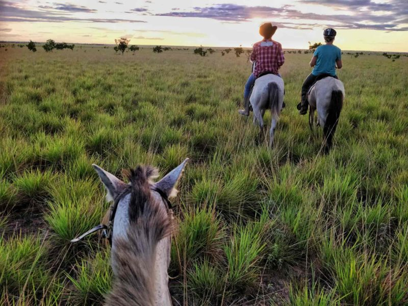 Horseback riding in the Rupununi in Guyana, one the must-do tourist attractions in Guyana, South America