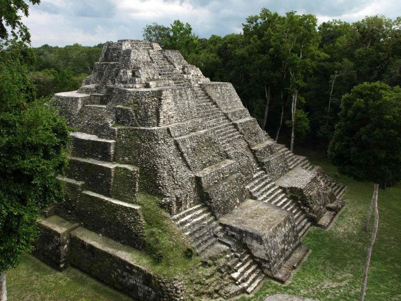 A temple at Yaxha rises out of the jungle at one of Guatemala's most impressive Maya sites