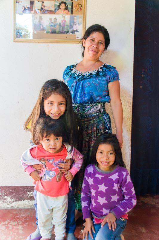 A Guatemalan family in San Juan La Laguna