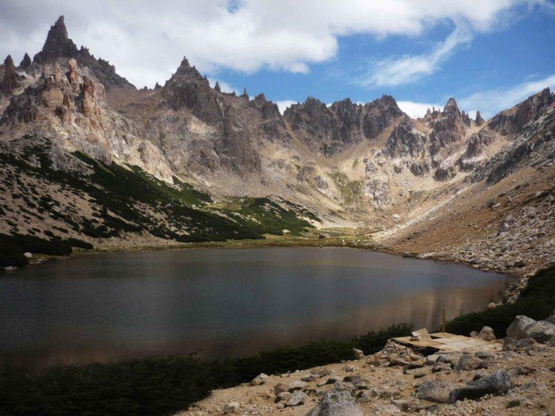 A lake along the Nahuel Huapi Traverse in Nahuel Huapi National Park near Bariloche in Argentine Patagonia