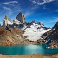 Laguna de los Tres below Monte Fitz Roy in Parque Nacional Los Glacaires, Argentine Patagonia's top hiking destination