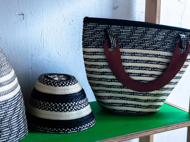 Handicrafts made from cana flecha by the women of the Asociasion de Mujeres Indigenas Asos Maiz in 20 de Julio Cartagena, Colombia which can be visited on a sustainable tour