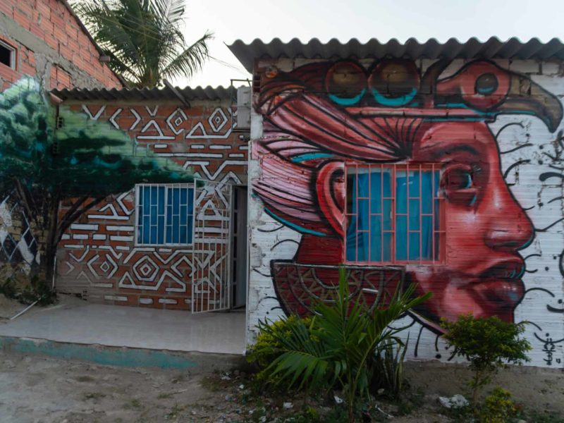 The Zenu community centre in 20 de Julio neighbourhood in Cartagena, the site of a sustainable weaving tour