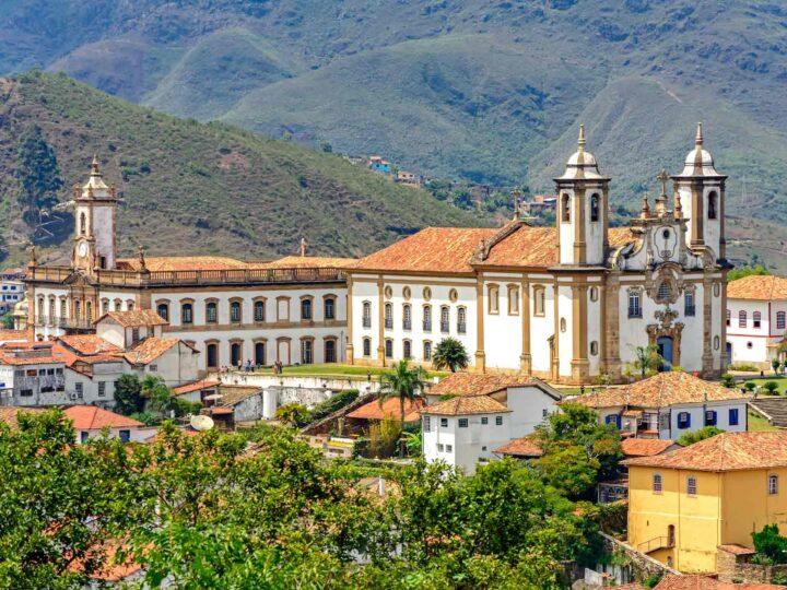 Ouro Preto a UNESCO World Heritage Site in Brazil.