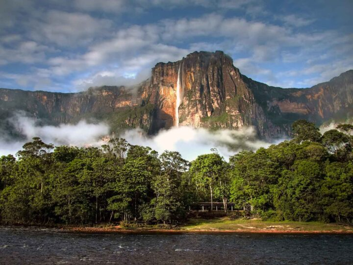 Angel Falls in Venezuela, one of the most off-the-beaten path places to visit in South America