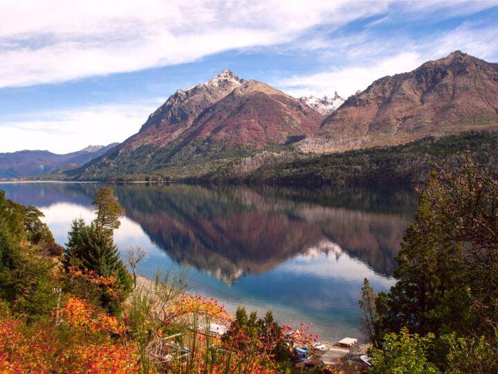 Autumn colours in Lake Gutierrez, near Bariloche, Patagonia, Argentina