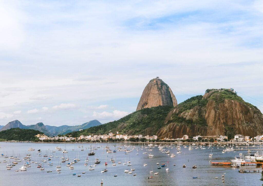 Views of the water in Urca, Brazil