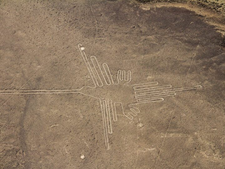 A hummingbird drawn into the desert as part of Peru's mysterious Nazca Lines